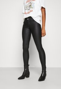 ONLY - ONLCHRISSY SKINNY COAT  - Jeans Skinny Fit - black - 0