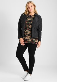 ONLY Carmakoma - CARAVANA - Faux leather jacket - black - 1