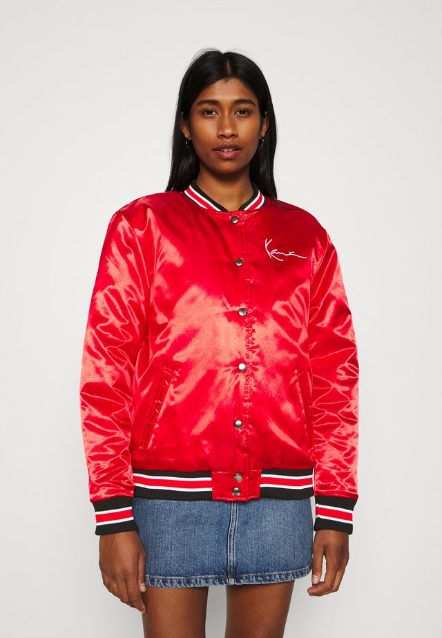 SMALL SIGNATURE COLLEGE JACKET - Bomber Jacket - red