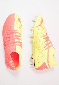 Puma - FUTURE 5.1 NETFIT OSG FG/AG - Moulded stud football boots - energy peach/fizzy yellow - 1