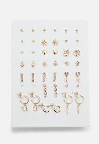 Pieces - PCQUA EARSTUDS KEY 20 PACK - Boucles d'oreilles - gold-coloured - 0