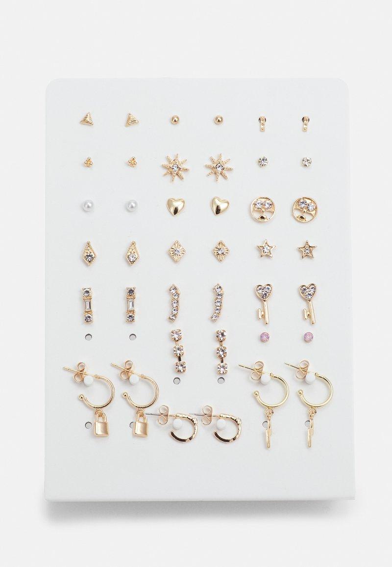 Pieces - PCQUA EARSTUDS KEY 20 PACK - Boucles d'oreilles - gold-coloured