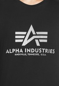 Alpha Industries - BASIC REFLECTIVE - Print T-shirt - black - 5