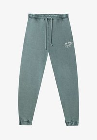 Stradivarius - Tracksuit bottoms - mottled teal - 4