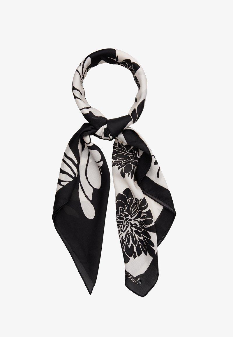 Esprit - FLOWERMIX - Skjerf - black