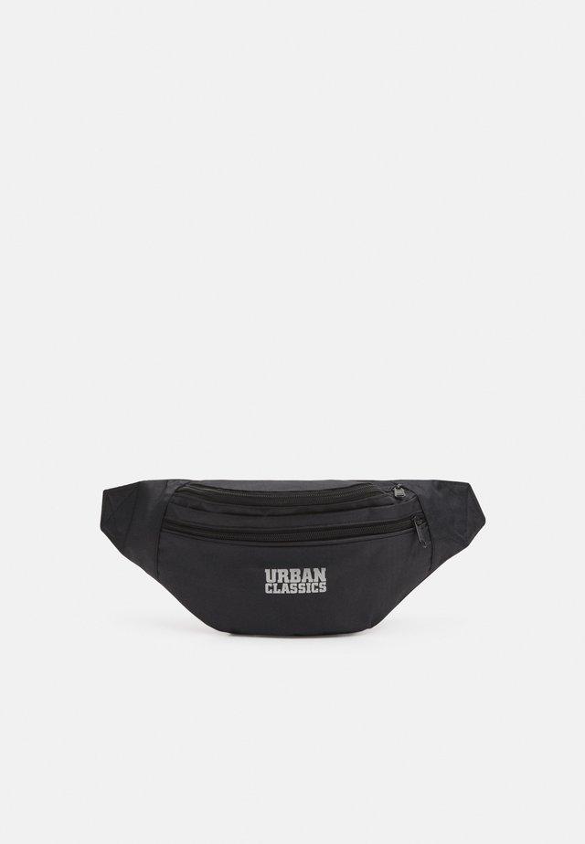 DOUBLE ZIP SHOULDER BAG - Ledvinka - black