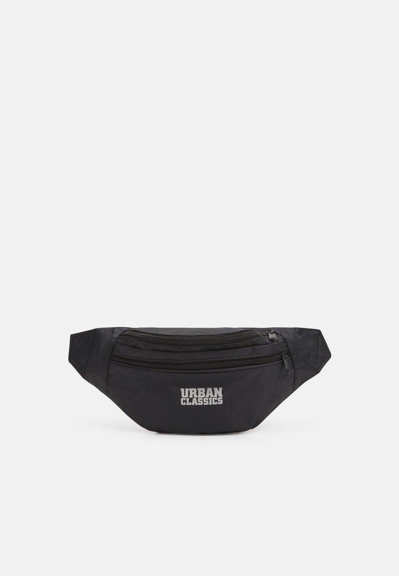 Urban Classics - DOUBLE ZIP SHOULDER BAG - Ledvinka - black