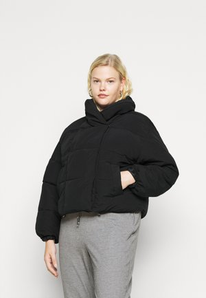 PCSAZEL SHORT PUFFER JACKET CURVE - Winter jacket - black