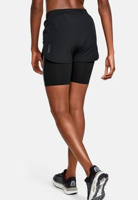 Under Armour - W UA RUSH RUN 2-IN-1 SHORT - Sports shorts - black - 0
