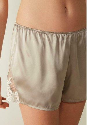 PRETTY FLOWERS - Pyjama bottoms -  powder beige/cream white