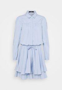 BROOKE FANCY DRESS - Shirt dress - sky blue