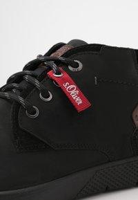 s.Oliver - Sznurowane obuwie sportowe - black - 5
