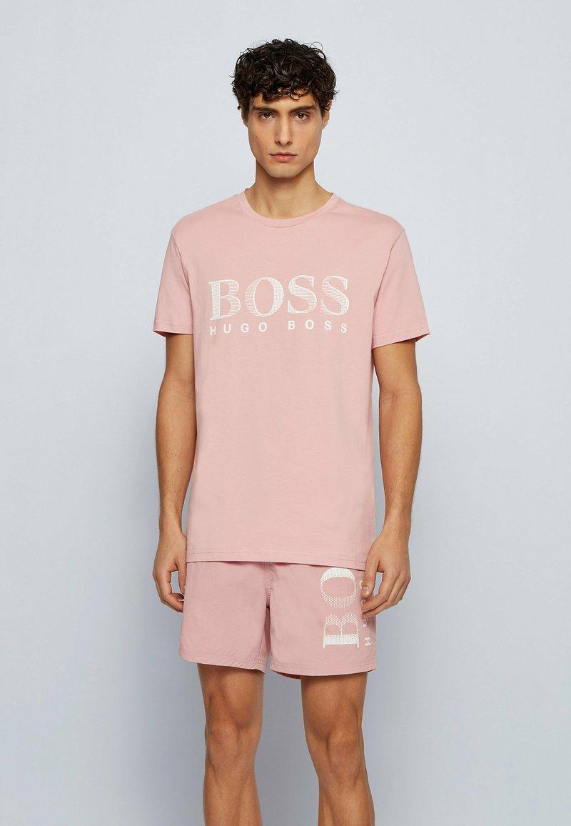 BOSS - Print T-shirt - open pink