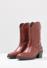 Vagabond - SIMONE - Cowboy/Biker boots - henna - 4