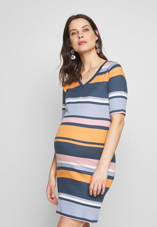 MLNICOLE SHORT DRESS  - Jerseykjole - orion blue/pale mauve/nugget