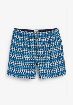 GEO PRINT - Swimming shorts - blue