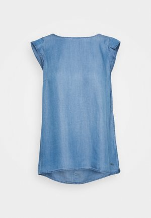 Print T-shirt - blue denim