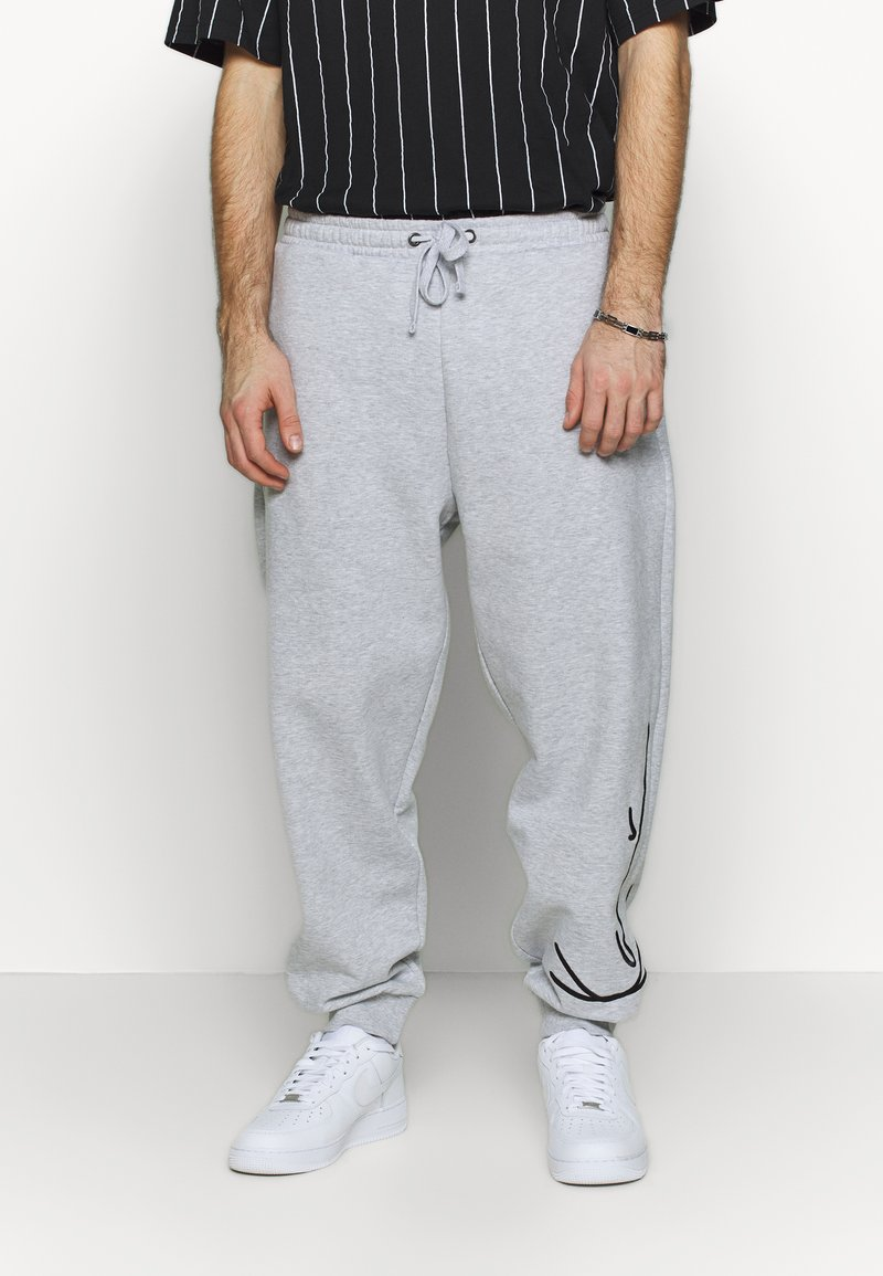 Karl Kani - SIGNATURE RETRO - Teplákové kalhoty - grey/black