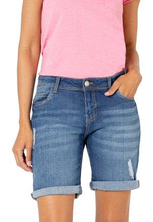 BERMUDA - Denim shorts - light blue