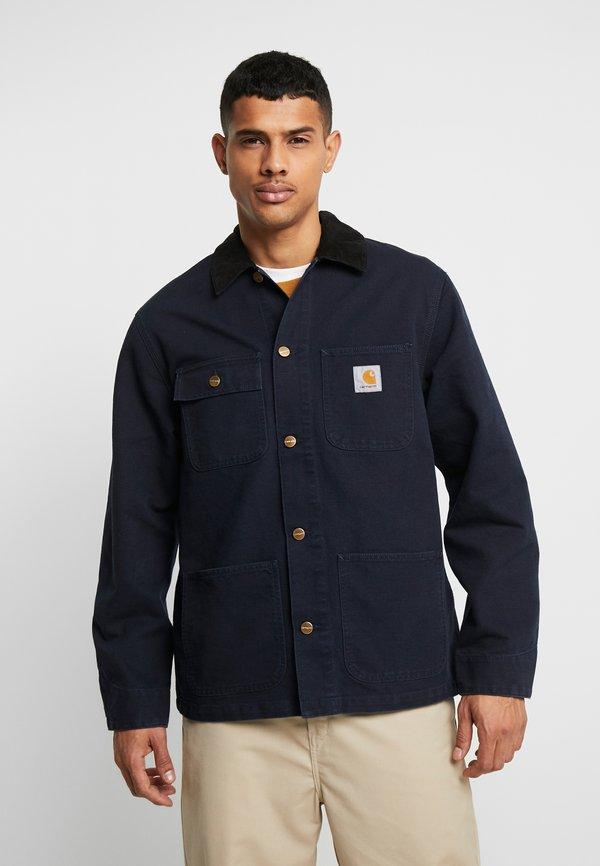 Carhartt WIP MICHIGAN COAT DEARBORN - Kurtka wiosenna - dark navy rinsed/granatowy Odzież Męska YOUX