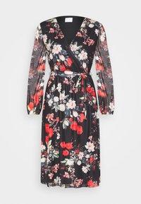 VIDAVIS VNECK TIE BELT DRESS - Day dress - black/flower