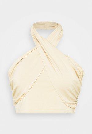 CROSSOVER HALTERNECK - Top - beige