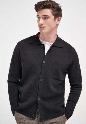 BUTTON THROUGH - Shirt - black