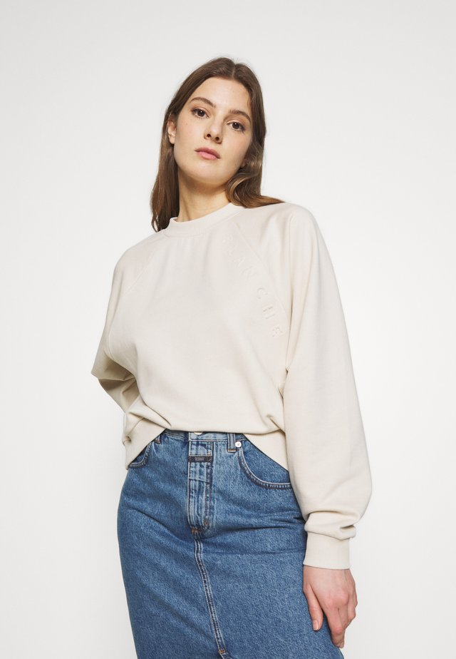 HELLA OVERSIZED EMBOSSED - Sweatshirt - white sand
