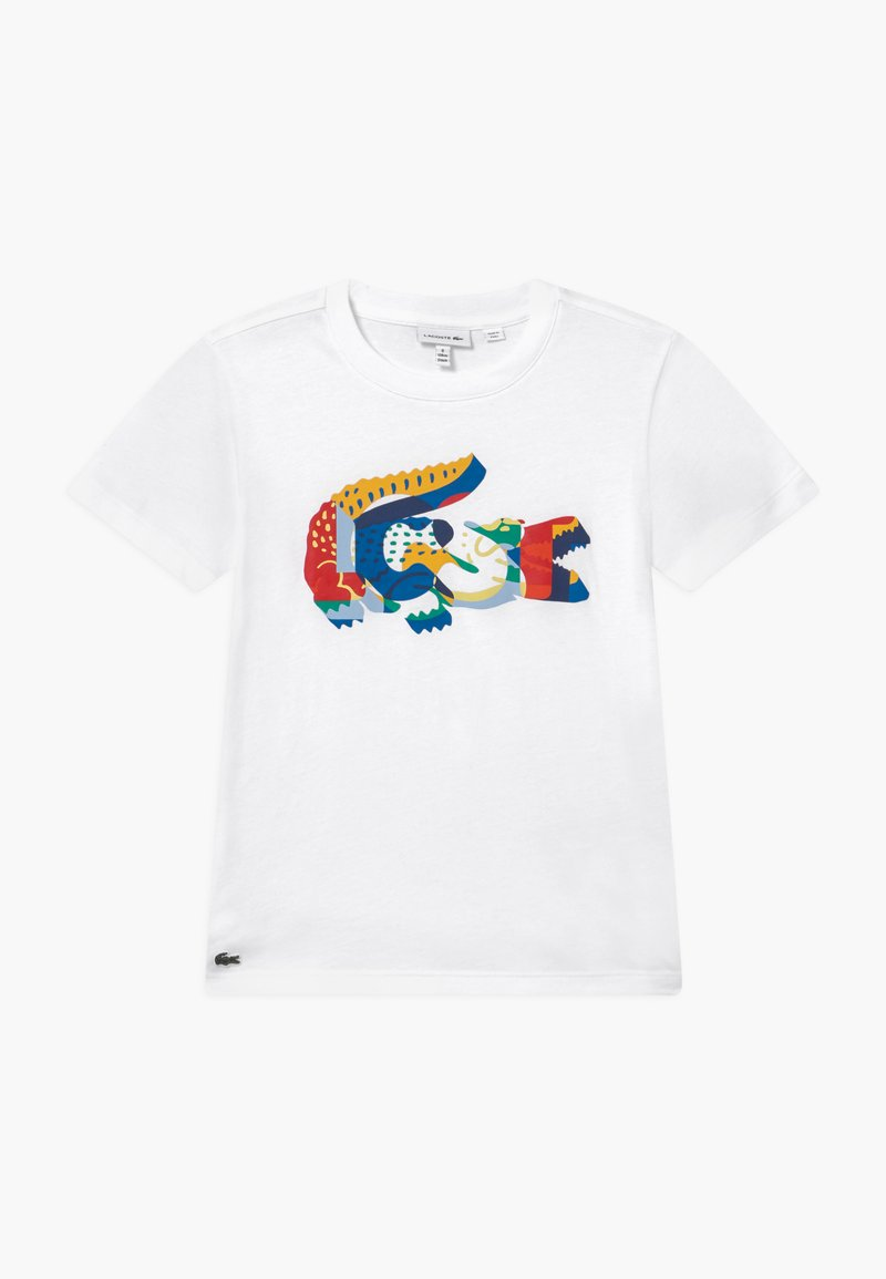 Lacoste - TEE TURTLE NECK - Print T-shirt - blanc