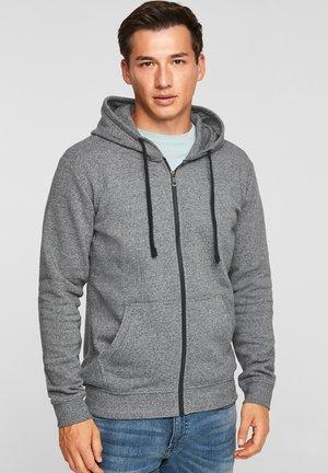 Sweater met rits - dark grey melange