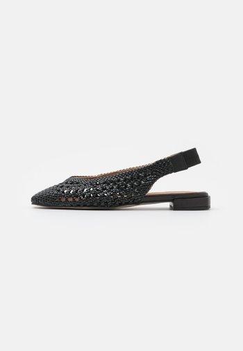 Slingback ballet pumps - trenzado/nero