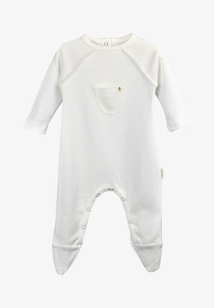 Pocket Detailed Sleepsuit (0-12 months) - Kruippakje - beyaz