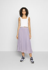 NA-KD - ANKLE LENGTH PLEATED SKIRT - A-Linien-Rock - purple - 1