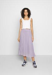 NA-KD - ANKLE LENGTH PLEATED SKIRT - A-line skirt - purple - 1