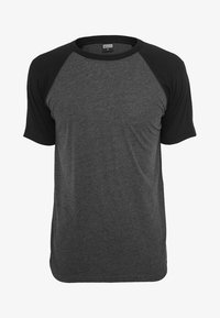 mottled grey/ black