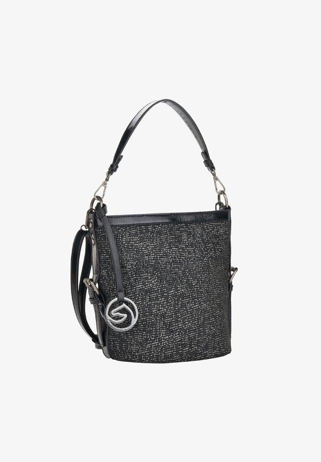 Handtas - black-white bronze (q0446-02)