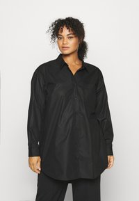 Kaffe Curve - CLONE SHIRT - Button-down blouse - black deep - 2