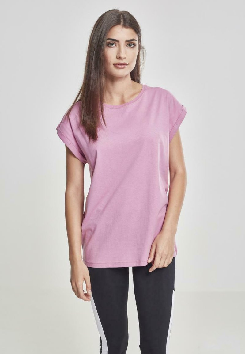 Urban Classics - EXTENDED SHOULDER TEE - Basic T-shirt - coolpink