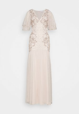 WATERFALL SLEEVE EMBELLISHED DRESS - Iltapuku - pearl pink