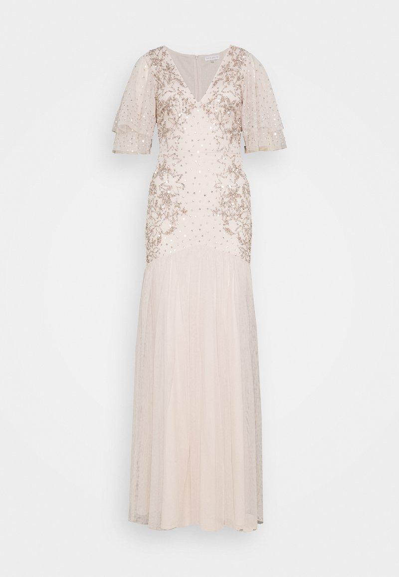 Maya Deluxe - WATERFALL SLEEVE EMBELLISHED DRESS - Vestido de fiesta - pearl pink