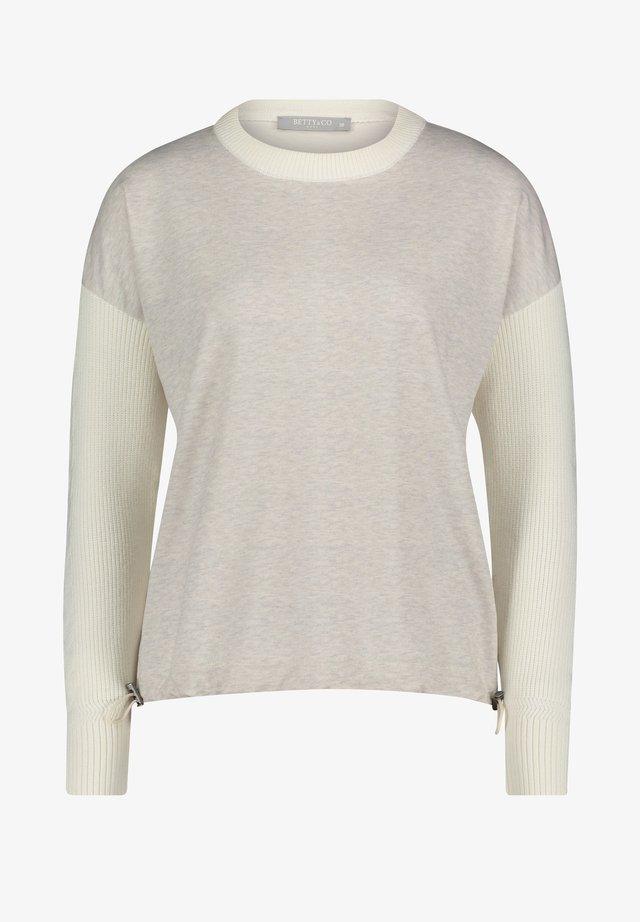 MIT STRUKTUR - Sweatshirt - cream/cream
