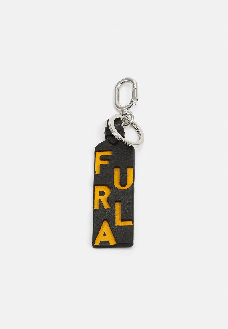 Furla - KEYRING UNISEX - Klíčenka - nero/ocra