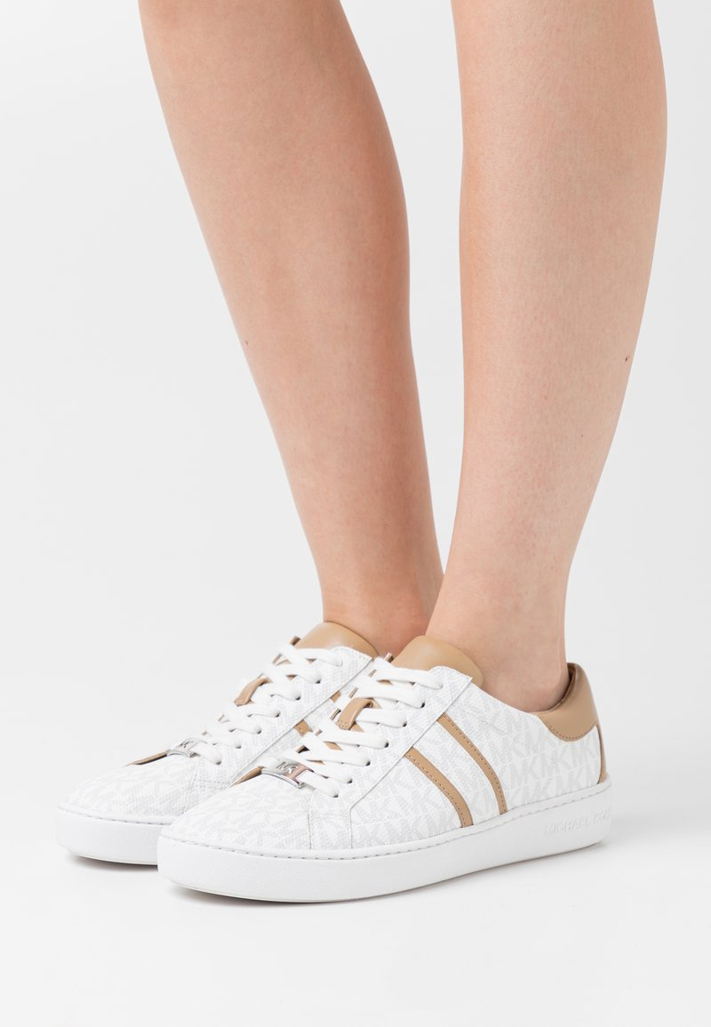 MICHAEL Michael Kors - KEATON STRIPE LACE UP - Trainers - bright white