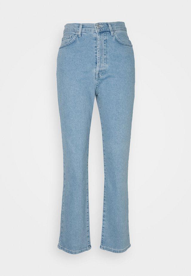 HIGH WAIST - Straight leg -farkut - light blue