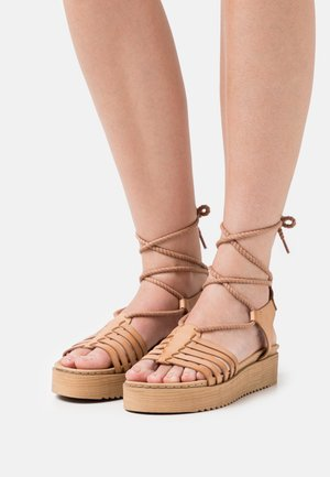 BILY - Platform sandals - nude