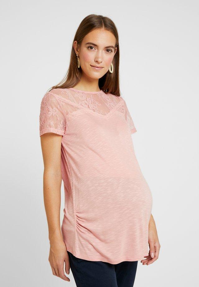 VICTORIANA INSERT SHORT SLEEVE - Print T-shirt - blush