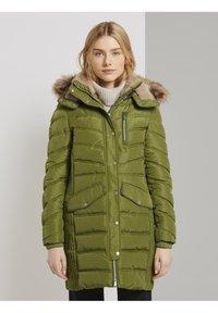 TOM TAILOR - SIGNATURE PUFFER COAT - Winter coat - wood green - 0