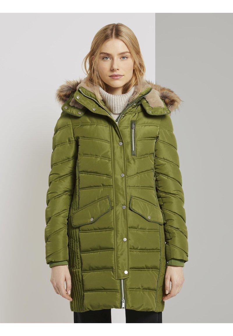 TOM TAILOR - SIGNATURE PUFFER COAT - Winter coat - wood green