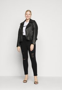 Simply Be - HIGH WAIST - Jeans Skinny Fit - black - 1