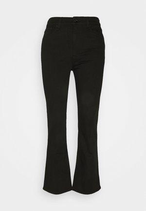 NINA HIGH RISE ANKLE FLARE - Široké džíny - black